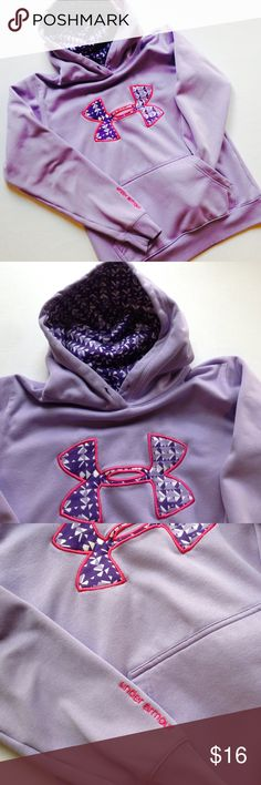 h o o d i e Periwinkle Under Armour hoodie with front pouch, longsleeved, in great condition, it is missing the drawstring that goes through the hoodie. Under Armour Tops