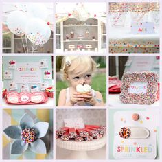 Sprinkle Birthday Party!!! Bebe'!!! Cute idea!!!