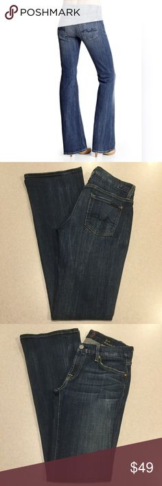 7 For All Mankind Jeans 26X33 Lexie Kimmie Bootcut 7 for all mankind jeans The Kimmie sexy & curvy Bootcut Lexie petite Vintage flash wash Size 26 33 inch inseam Beautiful medium wash stretch denim with soft fading and distressing Perfect condition, no flaws! Style # AU0323976 