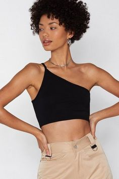 Straight Crop Top with Crew Neckline | Nasty Gal Black And White Crop Tops, Striped Crop Top, Black White, Bardot Crop Top, Topshop Outfit, Basic Outfits, Short Tops, Skinny, Moda Femenina