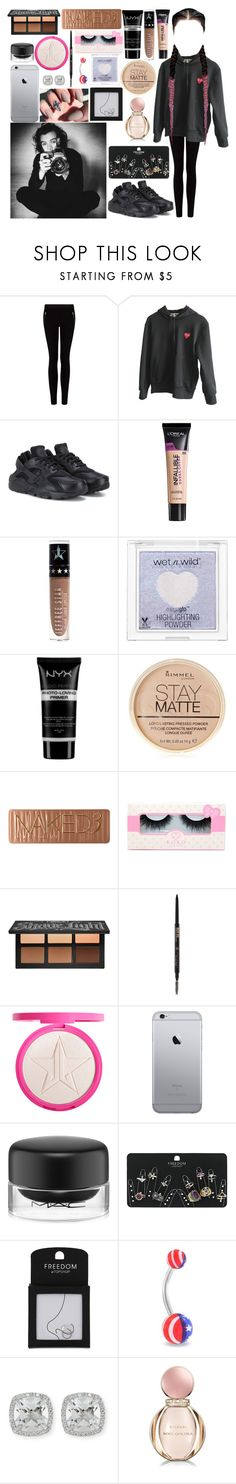 """Untitled #996"" by brunette-biatch ❤ liked on Polyvore featuring MANGO, Comme des Garçons, NIKE, L'Oréal Paris, Jeffree Star, NYX, Rimmel, Urban Decay, Kat Von D and Anastasia Beverly Hills"