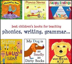 Language Arts & Literacy with Children's Books Huge list of books for teaching phonics, writing, language arts. So helpful!Huge list of books for teaching phonics, writing, language arts. So helpful! Prek Literacy, Phonics Activities, Phonics Books, Literacy Stations, Teaching Grammar, Teaching Language Arts, Best Children Books, Childrens Books, Caleb