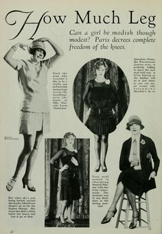 Photoplay magazine, Yes, most nice girls didn't feel the need to stick it in your face in those days. 20s Fashion, Art Deco Fashion, Fashion History, Vintage Fashion, Flapper Fashion, Classic Fashion, Vintage Clothing, Vintage Advertisements, Vintage Ads