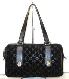 4bcc0daba Gucci Monogram Boston Black Bag - Satchel. Save 62% on the Gucci Monogram  Boston. Tradesy