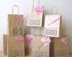 Hen party bags set of 5 SMALL 14cm x 19.5cm x 8cm by shintashop