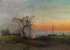 Alexei Kondratyevich Savrasov Russian May 24 1830 October 8 1897 was a Russian landscape painter and creator of the Oil On Canvas, Canvas Prints, Framed Prints, Russia Landscape, Birds In The Sky, Ukrainian Art, Russian Art, Museum Of Fine Arts, Heritage Image