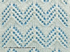 Lace Knitting Stitches for Spring 2016 - Pattern - Chevron Lace Lace Knitting Stitches, Baby Boy Knitting Patterns, Knitting Charts, Free Knitting, Baby Knitting, Lace Patterns, Stitch Patterns, Drops Design, Knit Crochet