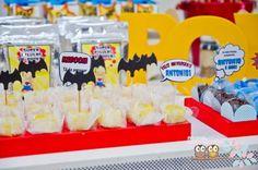 Super Hero Party Superman Party, Superhero Birthday Party, 5th Birthday, Birthday Parties, Birthday Cake, Rock Candy, Cupcake Toppers, Hero Spiderman, Birthdays