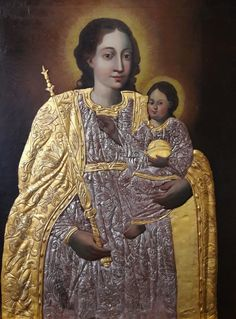 Feretory of the Confraternity of the Rosary with Madonna and Child by Anonymous (Lublin), mid-17th century, Dominican Monastery in Lublin. #oilonpanel #artinpl #giltonsilver #riza #baroque #painting Baroque Painting, Madonna And Child, 17th Century, Anonymous, Fashion, Moda, Fashion Styles, Fashion Illustrations