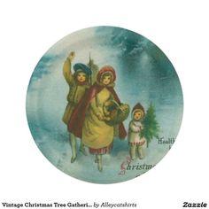 Vintage Christmas Tree Gathering