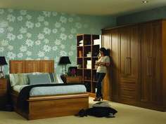 TUSCANY This versatile yet elegant bedroom has a very broad appeal. The warmth of the walnut tones in this door are pleasing to the eye. Fitted Bedroom Furniture, Fitted Bedrooms, Modern Bedrooms, Bedroom Wardrobe, Home Bedroom, Bedroom Ideas, Glasgow, Walnut Bedroom, Small Bedroom Designs