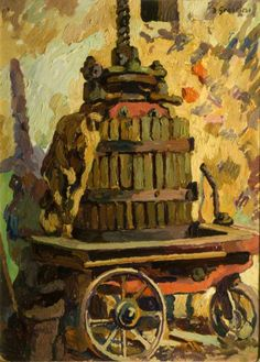 Duncan Grant (UK, - The Wine Press - 1930 - oil on canvas - Keele University Art Collection, UK Duncan Grant, Your Paintings, Beautiful Paintings, Ben's Bells, Bristol Museum, Wine Press, Bloomsbury Group, Manchester Art, Wine Design