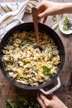 One Pot Lemon Basil, Corn, and Ricotta Pasta. - Half Baked Harvest