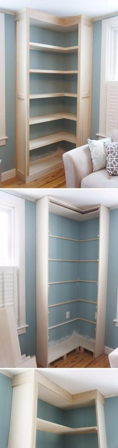 Maybe make something like this as extra storage in our kitchen on corner where pipework is???