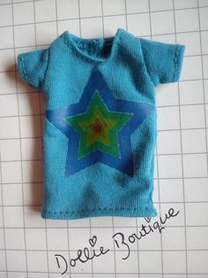 Blue T-shirt with Star design for Isul