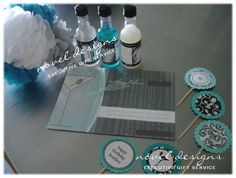 Cocktail party theme favors, invites and cupcake toppers. #lasvegas #events