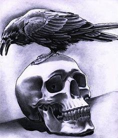 Crow And Skull Tattoo Designs Animal Skull Tattoos, Bird Skull Tattoo, Small Skull Tattoo, Skull Tattoo Flowers, Crow Skull, Sugar Skull Tattoos, Skull Art, Crow Tattoos, Sleeve Tattoos