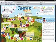 Jogo de trilha sobre a vida de Jesus
