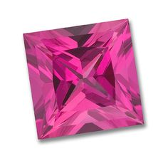 8x8mm Princess Cut Gem Quality Chatham-Created Cultured Pink Sapphire Weighs 2.97-3.63 Ct.