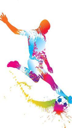 Fut Art Football, Goals Football, Football Match, Volleyball Drawing, Tottenham Hotspur Wallpaper, Soccer Silhouette, Soccer Tattoos, Soccer Ball Cake, School Murals