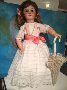 Antique SFBJ 301 Paris JUMEAU bisque head doll 11 size 70 cm 27.5 inches #Jumeau