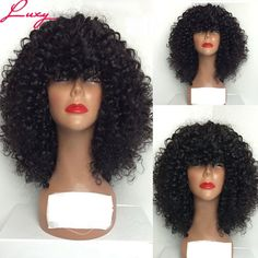 72.68$  Buy now - http://alisot.worldwells.pw/go.php?t=32720234102 - Heavy 180%Density Human Hair Brazilian Virgin Hair Full Lace Wig&Lace Front Human Hair Wigs For Black Women