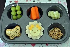 Love the idea of serving lunch in a muffin tin~ why didn't I think of that! :)