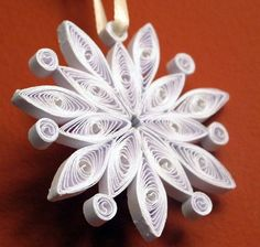 Quilled Snowflake by Elenatgeezer, via Flickr