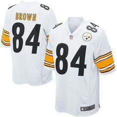 Men's Antonio Brown Pittsburgh NFL Elite Football Jersey - White Black