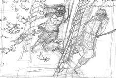 60. Early Battle Scenes 1: pencil on paper