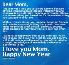 I Love You Mom, Happy New Year new years new year happy new year new years quotes new year quotes new years comments happy new years quotes happy new year 2016 2016 2016 quotes quotes for the new year new years sayings quotes for new year new years quotes for mom new year mom quotes
