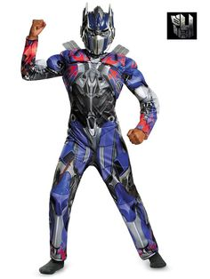 Check out Transformers Optimus Prime Classic Muscle Costume - TV & Movie Boys Costumes from Wholesale Halloween Costumes