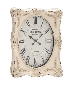The Rustic Wall Clock. Are You In Search Of A Wall Clock That Has Style And Pizzazz Whilst At The Same Time Portraying A Rustic And Aged Look? Well, This Wall Clock Certainly Has That. In A Lovely White Frame That Is Distressed, This Wall Clock Has A Dial That Has Roman Numerals As Its Digits. There Are Floral Designs On Its Frame; And The Overall Effect That Is Created Because Of All Of That Is One Of Nostalgia And Loveliness Towards The Past. Not Only Will This...