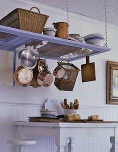 Make a Pot Rack From a Screen Door Better Homes & Gardens-