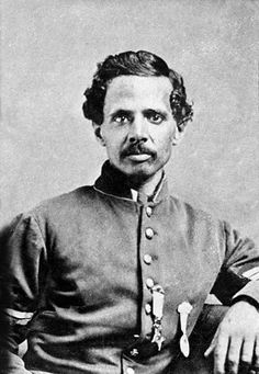 "Civil War Veteran - Sgt. Powhatan Beaty (Oct 8, 1837 – Dec 6, 1916) served as a First Sergeant in the Union Army in Company G, 5th U.S. Colored Infantry. He was awarded the Medal of Honor for action on September 29, 1864 at Chapin's Farm, Virginia. His citation reads ""Took command of his company, all the officers having been killed or wounded, and gallantly led it."""