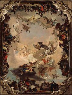 Allegory of the Planets and Continents  Giovanni Battista Tiepolo  (Italian, Venice 1696–1770 Madrid)   Date: 1752   Medium: Oil on canvas