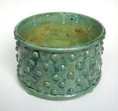Ceramic Bumpy Planter Pot with Feet  Textured Bonsai by JMNPOTTERY, $65.00