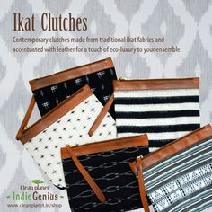 Ikat Clutches by Clean Planet