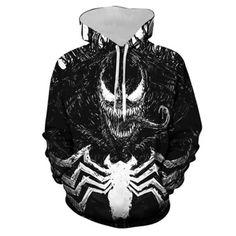 Hoodie Marvel Venom Printed Zipper Cardigan Hooded Sports Sweater Cospaly Men And Women Men And Women Men And Women T-Shirts-Shirts Socks Plus Size Hoodies, Zip Up Hoodies, Cheap Hoodies, Sweatshirts, Cool Hoodies For Guys, Animal Print Hoodies, Halloween Sweatshirt, Costume Shop, Hoodie Outfit