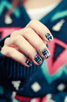 manicure mania: nail art and nail polish trends Nail Polish Style, Nail Polish Trends, Indian Nails, Statement Nail, Hard Nails, Finger Art, Tribal Nails, Nail Candy, Creative Nails