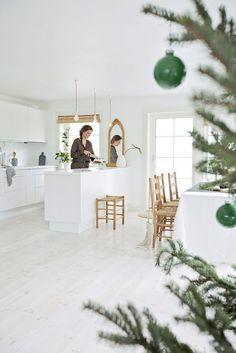 Casinha colorida: Home Tour: um Natal verde e branco