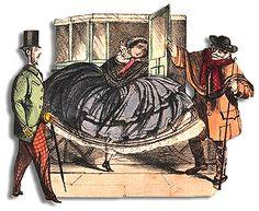 The crinoline or hoop skirt was a popular undergarment for women . see where it all began. Victorian Corset, Victorian Fashion, Vintage Fashion, Funny Fashion, Fashion Humor, Women's Fashion, Rococo Dress, Crinoline Dress, Satirical Illustrations