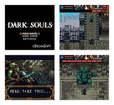 Dark Souls - GBC Demake Pixel Artist: ryumaru Source: pixeljoint.com