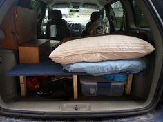 http://onecanadiansjourney.com/travel-cheap-the-camper-van-conversion/