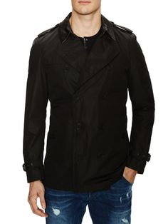 Black Short Single Breasted Trench Coat from Burberry Apparel