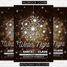 Winter Night - Premium Flyer Template https://www.exclusiveflyer.net/product/winter-night-premium-flyer-template/