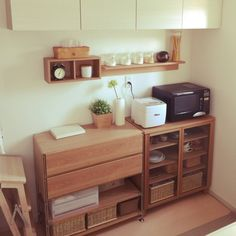 Connected kitchens: when home automation comes into the kitchen - My Romodel Kitchen Furniture, Kitchen Interior, Room Interior, Interior Design, Muji Haus, Hm Home, Japanese Interior, Kitchen Linens, Home Automation