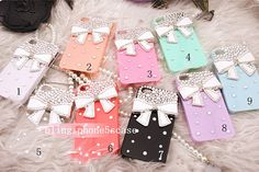 bow iphone 5s case rhinestone iphone 5c case by blingiphone5scase