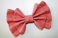 """""""Gingham Red"""" bow from Sincerely, Maeko!    http://sincerelymaeko.storenvy.com"""