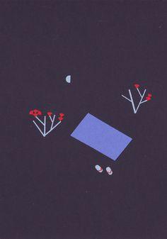 """Cecilia Alfonso Esteves - """"El poeta se alimenta con galletas de luna"""" Ramón Gómez de la Serna Ilustración del libro """"Jardín de palabras"""" Antología de haikus y greguerías. Ediciones Castillo. México. 2014"""